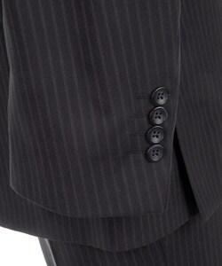 Thumbnail 2, Kenneth Cole Reaction Men's Navy Stripe Wool Suit. Changes active main hero.