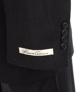 Thumbnail 2, Kenneth Cole New York Men's Blue Stripe Wool Suit. Changes active main hero.