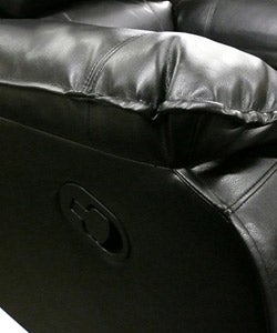 Leather Swivel Rocker/ Recliner - Thumbnail 1