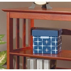 """36""""H Mission Style Solid Wood Bookcase - Thumbnail 1"""