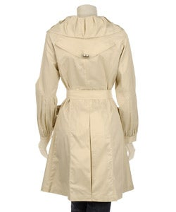 Vertigo Women's Double-breasted Belted Trench - Thumbnail 1