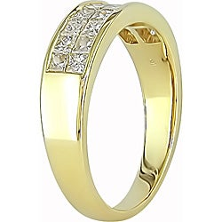 Miadora 14k Yellow Gold 1ct TDW Princess-cut Diamond Ring - Thumbnail 1