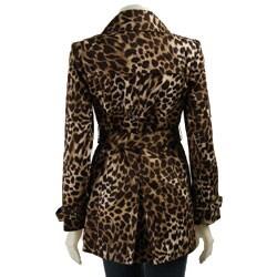 MICHAEL Michael Kors Petite Leopard Print Trench Coat