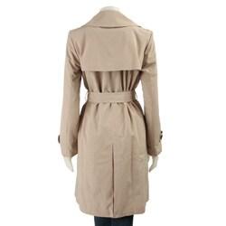 London Fog Women's Petite Short Trench Coat