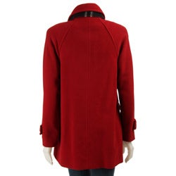 London Fog Women's Wool Coat with Scarf - Thumbnail 1