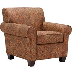 Mira 8 Way Hand Tied Paisley Arm Chair And Ottoman Free