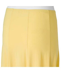 Adi Designs S. Max Women's Solid Mid-length Skirt - Thumbnail 1