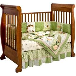 Shop Stasia Walnut Convertible Crib Free Shipping Today