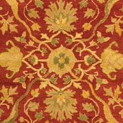 Safavieh Handmade Antiquities Mahal Rust/ Beige Wool Rug (9'6 x 13'6) - Thumbnail 1
