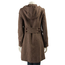 DKNY Women's Hooded Tweed Coat - Free Shipping Today - Overstock ...