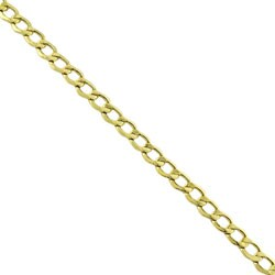 Fremada 14k Yellow Gold 8.5-inch Flat Curb Chain Bracelet