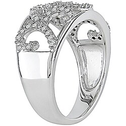 10k White Gold 1/3ct TDW Filigree Diamond Ring (I-J, I2-I3)