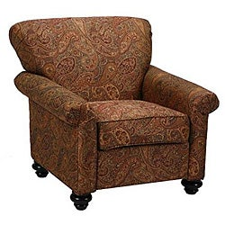 Capri Eight Way Hand Tied Brown Paisley Arm Chair Free