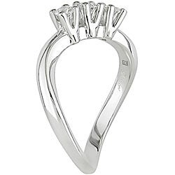 18k White Gold 1/3ct TDW Diamond 3-stone Ring - Thumbnail 1