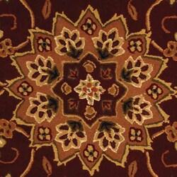 Safavieh Handmade Traditions Tabriz Red/ Ivory Wool and Silk Rug (4' x 6') - Thumbnail 1
