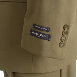 Thumbnail 2, Austin Reed London Men's British Khaki Solid Suit. Changes active main hero.