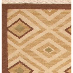 Thumbnail 2, Hand-woven Sand Wool Rug (8' x 10'). Changes active main hero.