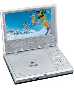 Initial 7-inch LCD Portable DVD Player with 10 Free Video Rentals