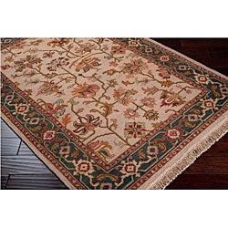 Hand-knotted Sangli Collection Wool Rug (9' x 12') - Thumbnail 1