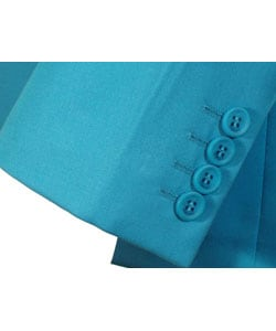 Gianni Versace Couture Men's Turquoise Sport Coat - Thumbnail 1