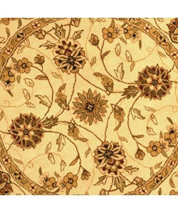 Safavieh Handmade Traditions Isfahan Ivory Wool and Silk Rug (6' Round) - Thumbnail 1
