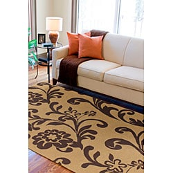 Tropic Collection Outdoor/ Indoor Area Rug (8' Round) - Thumbnail 1