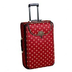 American Flyer Fleur De Lis 4-piece Luggage Set - Thumbnail 1