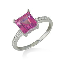14k Gold Pink Topaz and 1/10ct TDW Diamond Ring ( H/I, I1/I2 ) - Thumbnail 1