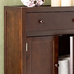 Fredericksburg Espresso Storage Cabinet