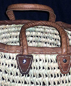 Round Straw Bag (Morocco)