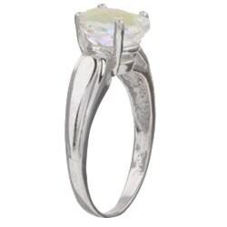 10k White Gold Mercury Mist Topaz Ring - Thumbnail 1