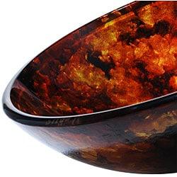 Kraus 14-inch Fire Opal Glass Vessel Sink - Thumbnail 1