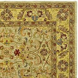 Safavieh Handmade Classic Kasha Gold Wool Rug (9'6 x 13'6) - Thumbnail 1