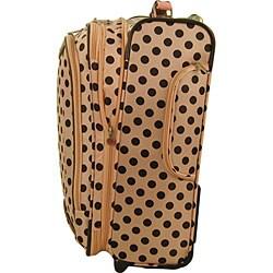 Olympia Spearmint 4-piece Polka Dot Luggage Set - Thumbnail 1