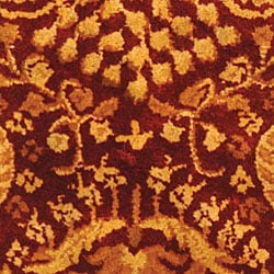 Safavieh Handmade Majestic Rust New Zealand Wool Runner (2'3 x 4') - Thumbnail 1
