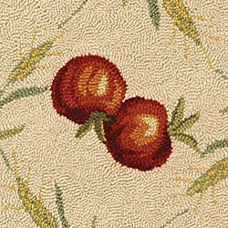 Safavieh Hand-hooked Rooster Garden Ivory/ Black Wool Rug (5'6 Round) - Thumbnail 1