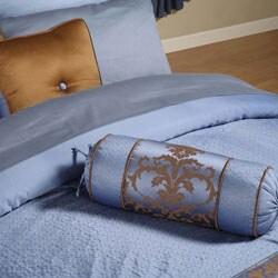 Blue Jacquard 22-piece King Comforter Set - Thumbnail 1