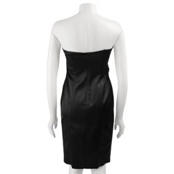 David Meister Women's Stretch Satin Dress