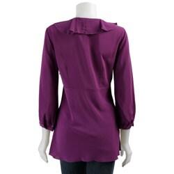 Spense Women's 3/4-sleeve Ruffle Tunic Top - Thumbnail 1
