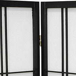Double Cross 24-inch 4-panel Shoji Screen (China)