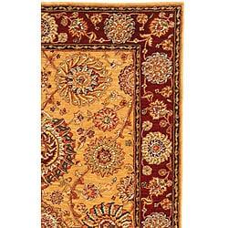 Safavieh Handmade Ancestry Gold/ Burgundy Wool and Silk Rug (5' x 8') - Thumbnail 1