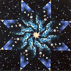 Space fabric kaleidoscope quilt kit free shipping on for Space fabric quilt