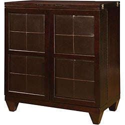 3-piece Leather-Wood Bar Set