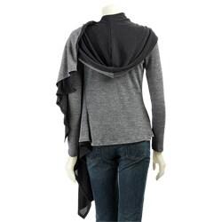 MLA11510902 renee c women's hooded wrap around sweater free shipping today,Renee C Womens Clothing
