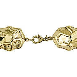 14k Yellow Gold Nugget Necklace