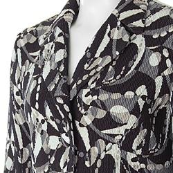 Flair Women's Crinkle Two-button Blazer - Thumbnail 1