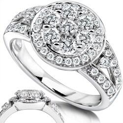 Annello by Kobelli 14k Gold 4/5ct TDW Diamond Engagement Ring (G-H, I1-I2) - Thumbnail 1