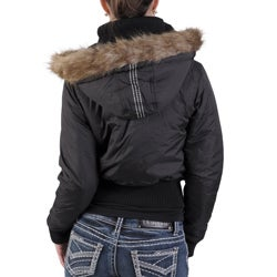 Cappuccino Brand Junior's Faux Fur Puff Jacket