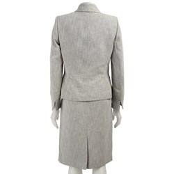 Le Suit Women's Two-piece Three-button Skirt Suit
