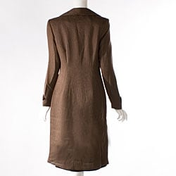 Audrey B Women's Long Suit Coat and Dress Set - Free Shipping